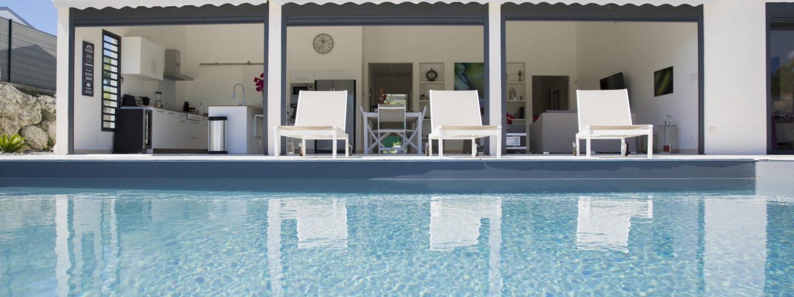 Ensemble touristique 5* – 2 villas haut de gamme – Pointe des Châteaux – St-Francois